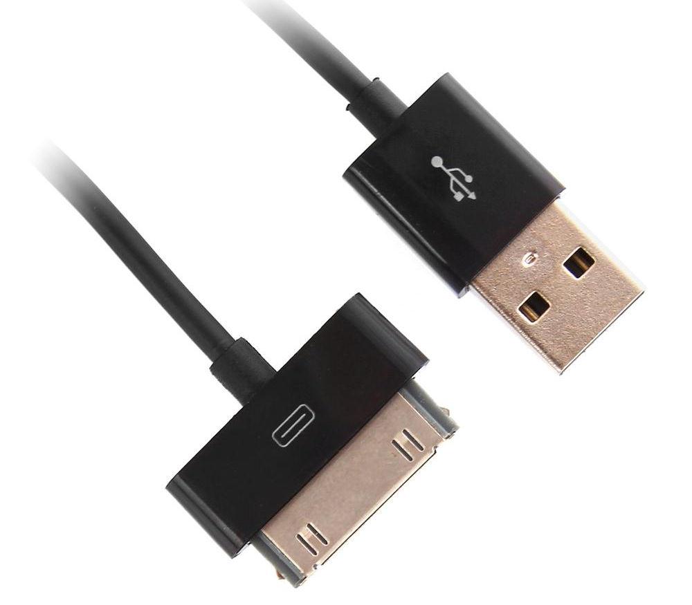 Аксессуар Rexant USB для iPhone 4 / 4S 1m Black 18-1124