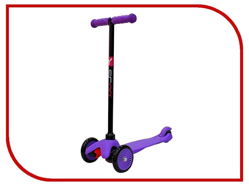 Самокат Y-SCOO mini Simple A-5 Purple с цветными колесами y scoo mini glam купить