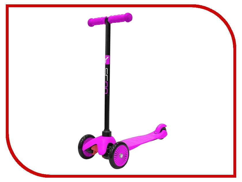Фото Самокат Y-SCOO mini Simple A-5 Pink с цветными колесами. Купить в РФ