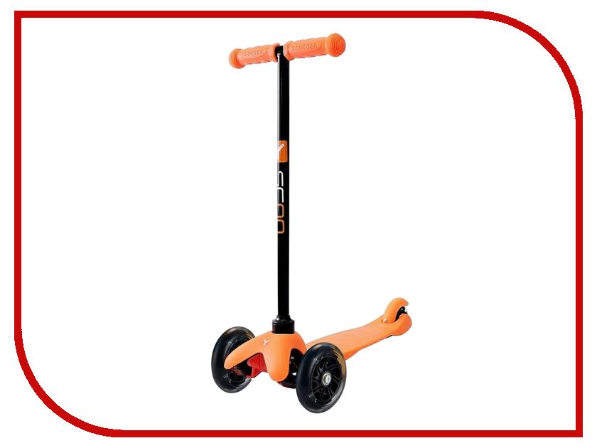 Самокат Y-SCOO mini Shine A-5 Orange со светящими колесами y scoo mini glam купить