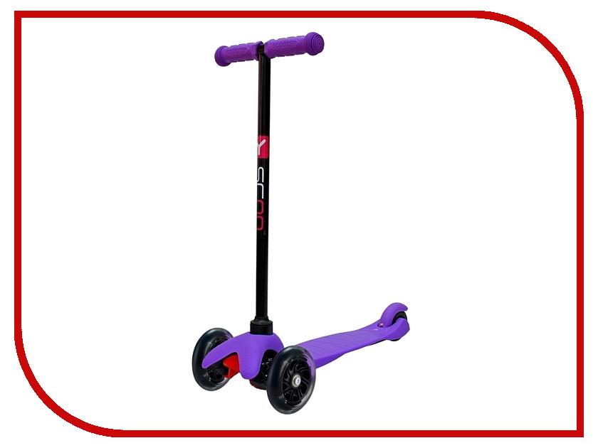 Самокат Y-SCOO mini Shine A-5 Purple со светящими колесами a chance to shine