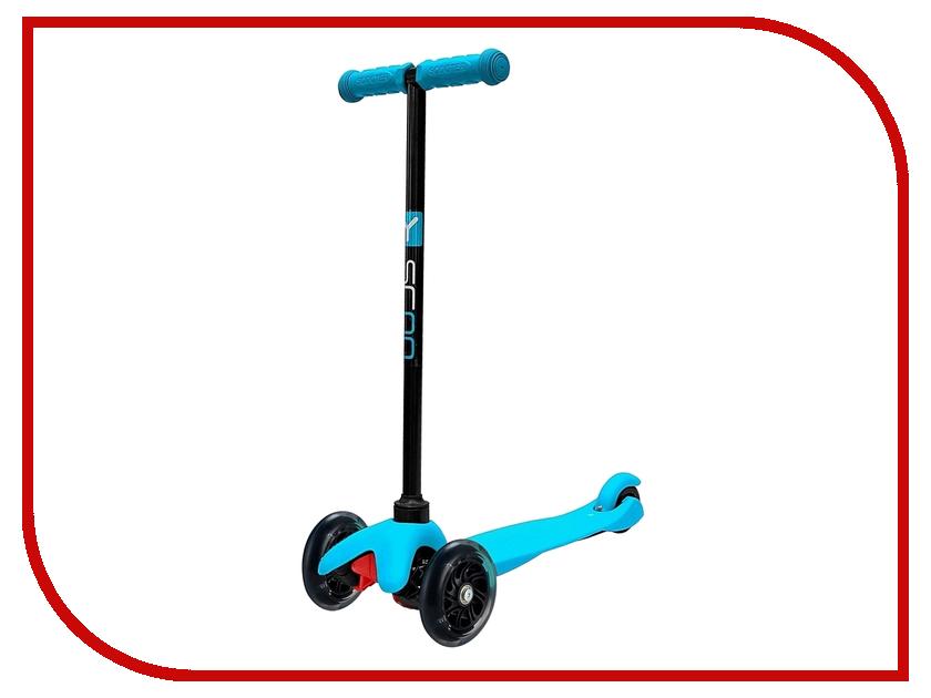 Самокат Y-SCOO mini Shine A-5 Blue со светящими колесами y scoo mini glam купить