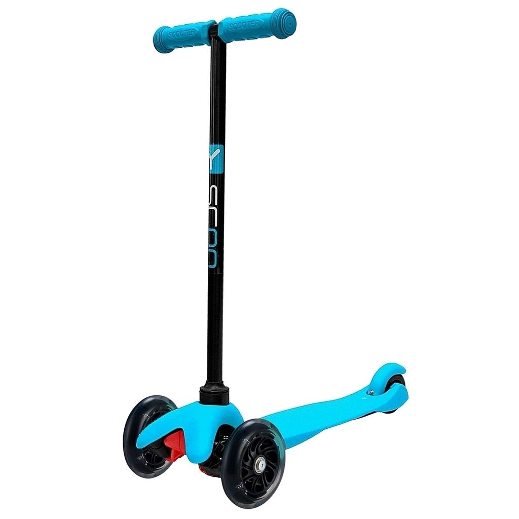 Самокат Y-Scoo mini Shine A-5 Blue со светящими колесами