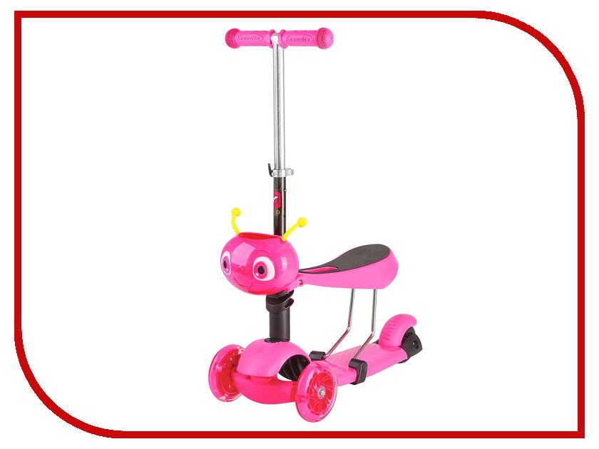 Самокат Novatrack Disco-Kids Pink 120S.DISCOKIDS.PN7 самокаты novatrack самокат городской novatrack polis алюм max 100кг колеса 230 180 мм