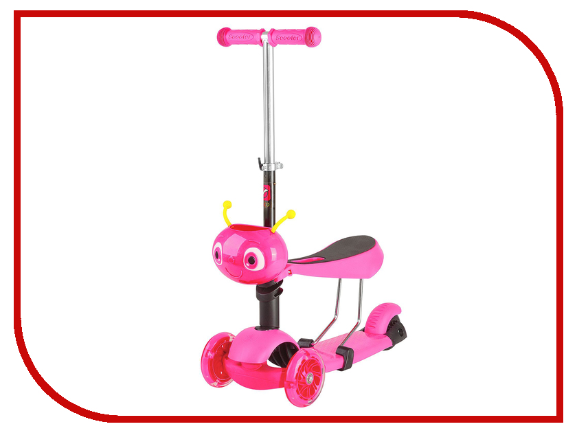 Самокат Novatrack Disco-Kids Pink 120S.DISCOKIDS.PN7