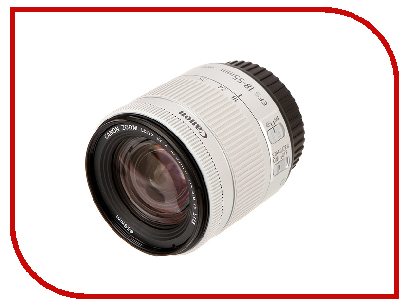 Объектив Canon EF-S 18-55 mm F/4-5.6 IS STM White объектив canon ef s is stm 1620c005 18 55мм f 4 5 6 черный