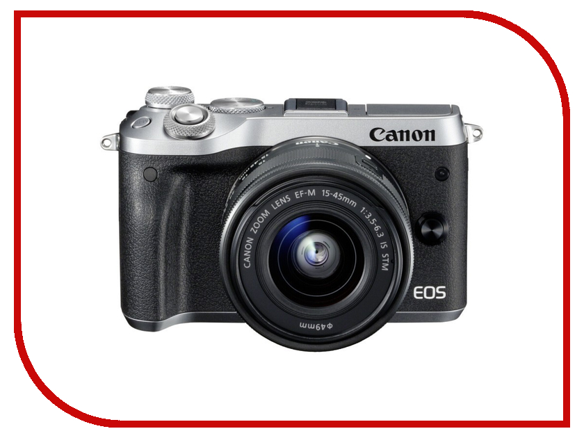 Фотоаппарат Canon EOS M6 Kit EF-M 15-45 IS STM Silver фотоаппарат canon eos 200d body silver