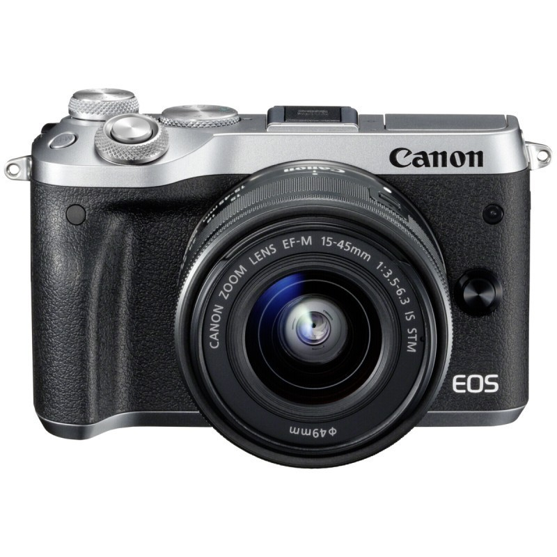 Фотоаппарат Canon EOS M6 Kit EF-M 15-45 IS STM Silver адаптер canon ef eos m 6098b005
