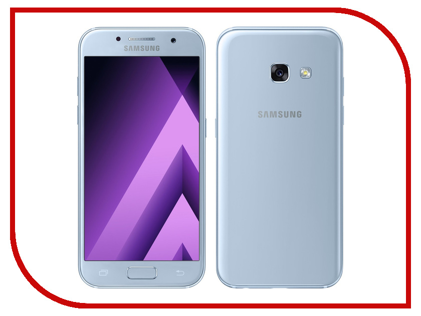 Сотовый телефон Samsung SM-A320F Galaxy A3 (2017) Blue смартфон micromax bolt q379 yellow