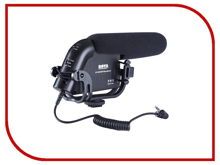 Микрофон Boya BY-VM190P boya by wm5 by wm6 camera wireless lavalier microphone recorder system for canon 6d 600d 5d2 5d3 nikon d800 sony dv camcorder