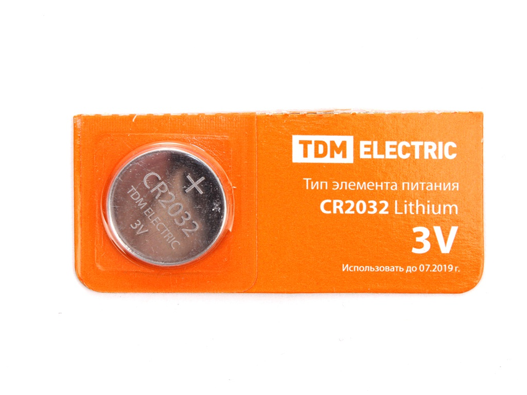 Батарейка CR2032 - TDM-Electric Lithium 3V BP-5 SQ1702-0029 (1 штука)