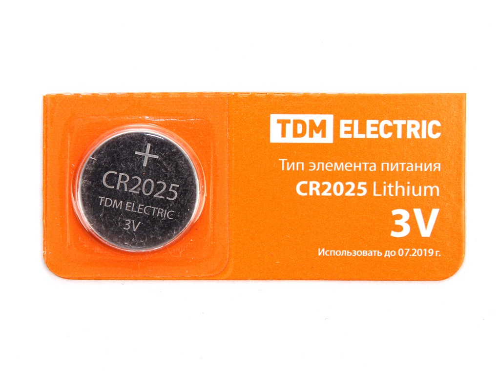 Батарейка CR2025 - TDM-Electric Lithium 3V BP-5 SQ1702-0028 (1 штука)