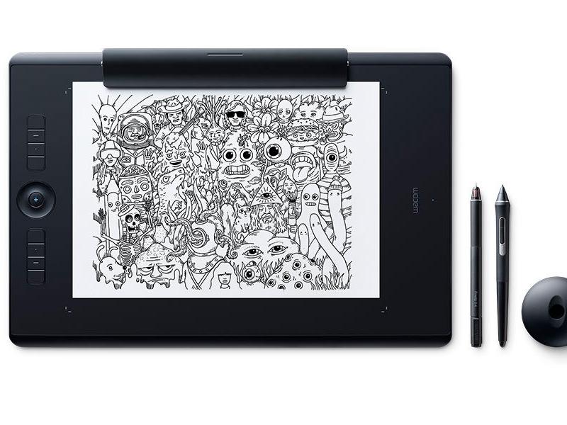 лучшая цена Графический планшет Wacom Intuos Pro Paper Large PTH-860P-R