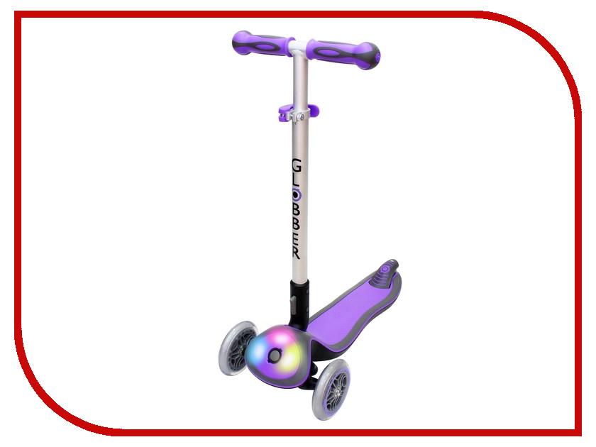 Самокат Y-SCOO Globber Elite F My Free Fold up со светящейся платформой Purple<br>