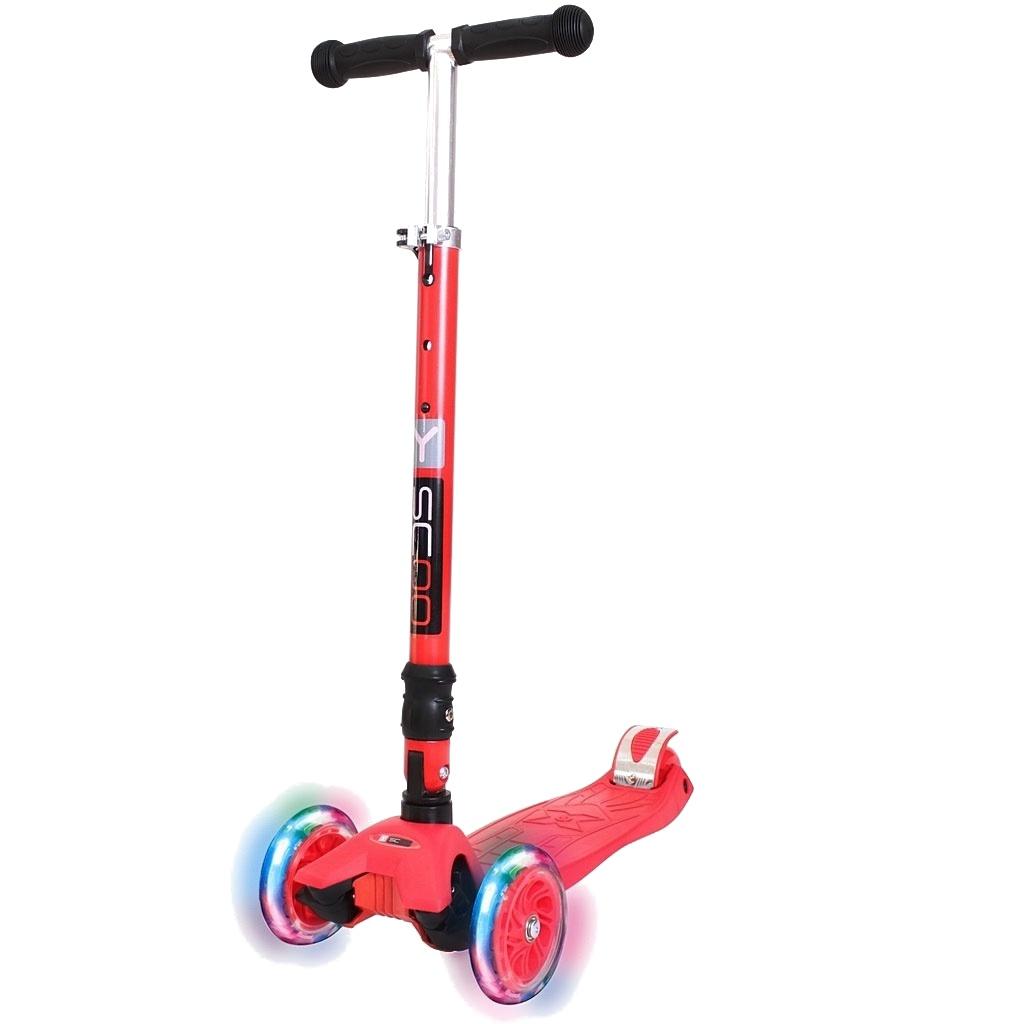 цены на Самокат Y-Scoo Maxi Fix Shine 35 Red со светящимися колесами  в интернет-магазинах