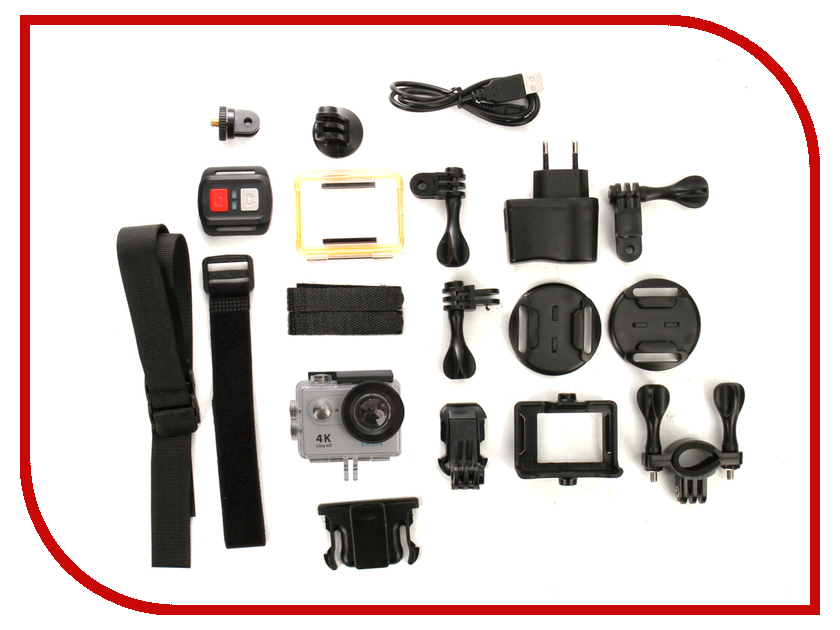 Экшн-камера EKEN H9R Ultra HD Silver eken pano360 экшн камера