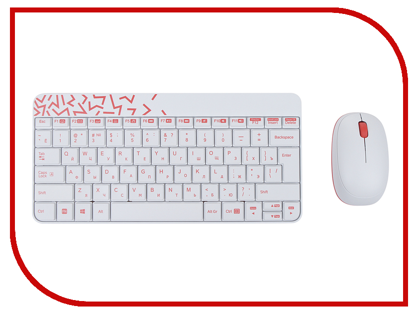 Набор Logitech Wireless Combo MK240 Nano White-Red 920-008212
