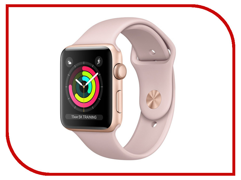 Умные часы APPLE Watch Series 3 38mm Gold with Pink Sand Sport Band MQKW2RU/A умные часы apple watch series 3 42mm gold with pink sand sport band mql22ru a