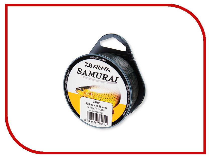 Леска Daiwa Samurai Carp 0.25mm 500m Camouflage