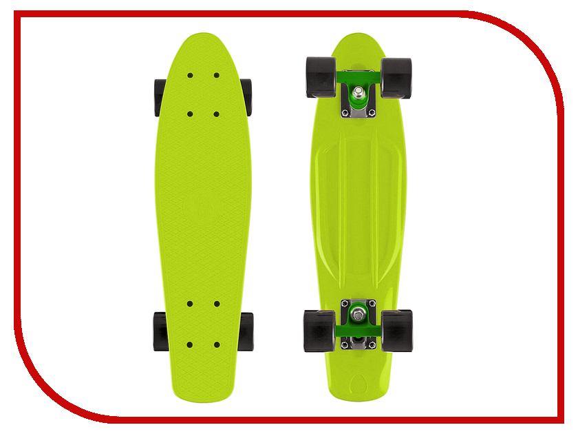 Скейт Y-SCOO Fishskateboard 22 Lime-Black 401-L