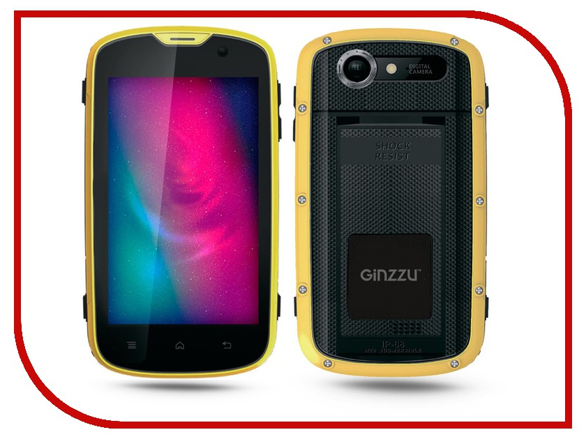 Сотовый телефон Ginzzu RS71D Black-Orange ginzzu s5050