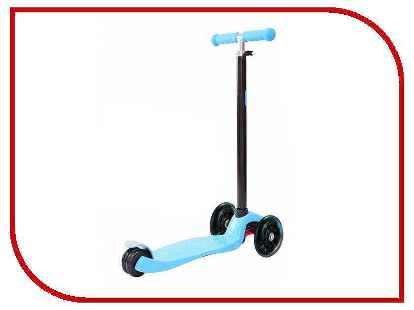 Самокат Y-SCOO Maxi Shine A-20 Blue со светящими колесами самокат y scoo globber primo fantasy big flowers neon pink со светящимися колесами