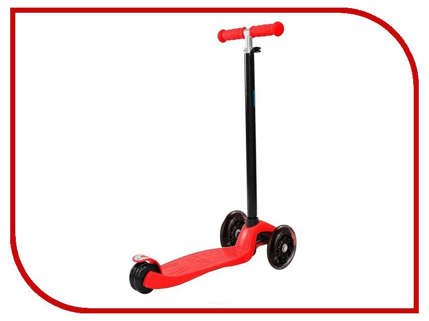 все цены на Самокат Y-SCOO Maxi Shine A-20 Red со светящими колесами онлайн