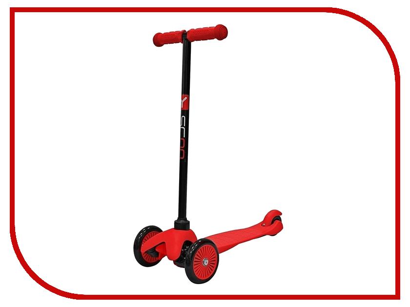 Самокат Y-SCOO Mini Simple A-5 Red с цветными колесами y scoo mini glam купить