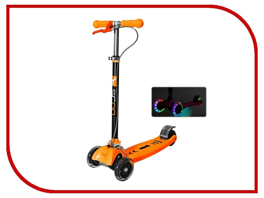 Самокат Y-SCOO Maxi City RT Shine Gagarin Orange с ручным тормозом