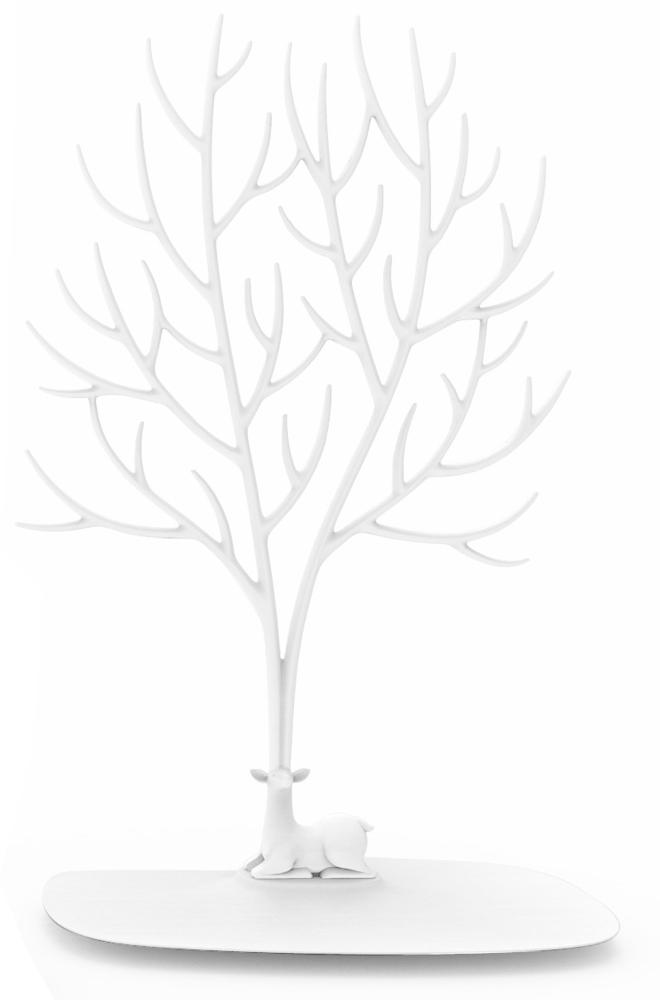Кольцедержатель Эврика Дерево с оленем Большое White 97548