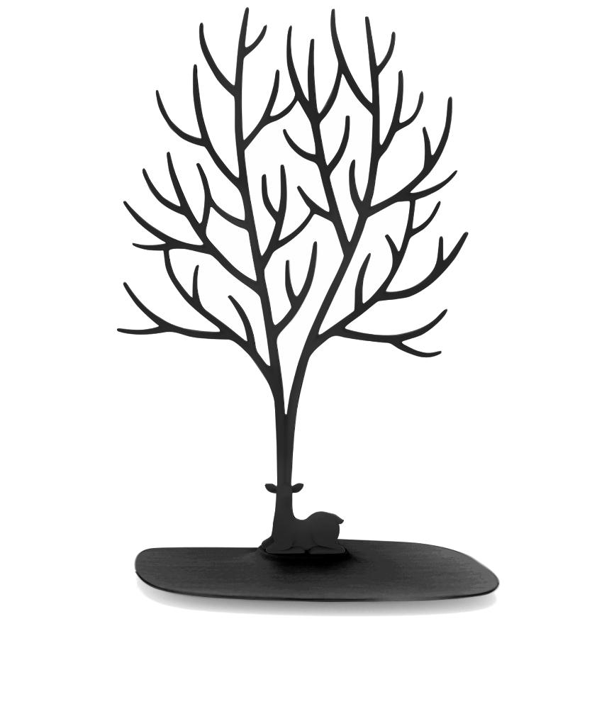 Кольцедержатель Эврика Дерево с оленем Большое Black 97547