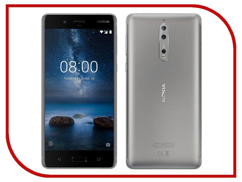 Сотовый телефон Nokia 8 Dual Sim Steel