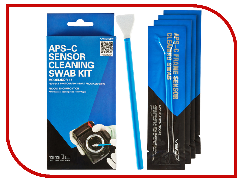 Аксессуар VSGO Комплект швабр для чистки APS-C матриц Ш-16 аксессуар vsgo швабра для чистки полноформатных матриц 24мм