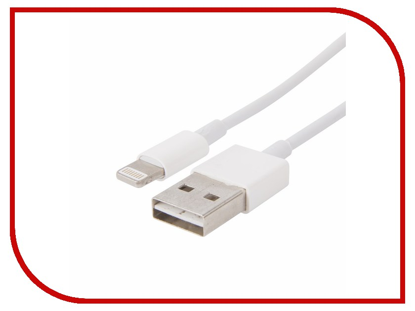 Аксессуар Rexant USB для iPhone 5 / 5S / 5C / 6 / 6+ White 18-0121 кабель usb rexant для iphone 5 6 7 18 4248