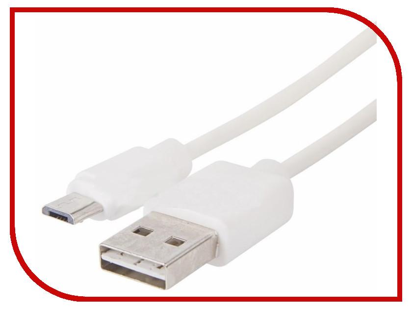 Аксессуар Rexant USB - microUSB 1m White 18-0111 аксессуар rexant jack 3 5mm 1m white 18 4018 9