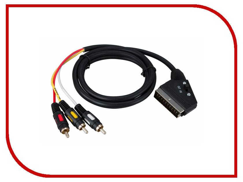 Аксессуар Rexant SCART Plug - 3 RCA Plug 1.5m Gold 17-1352