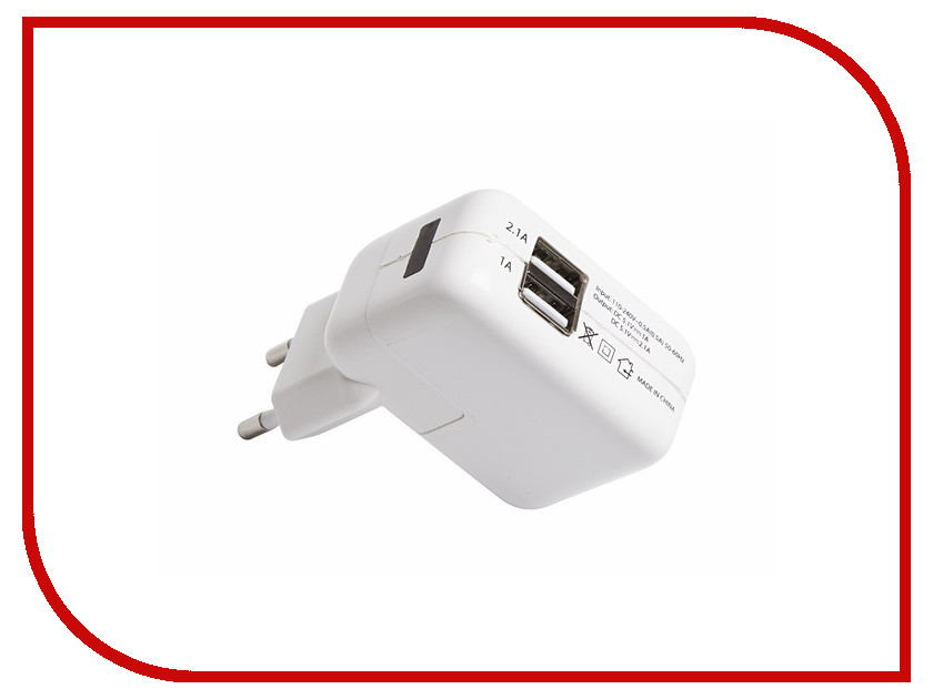 Зарядное устройство Rexant 2xUSB 2.1A / 1A 18-1187