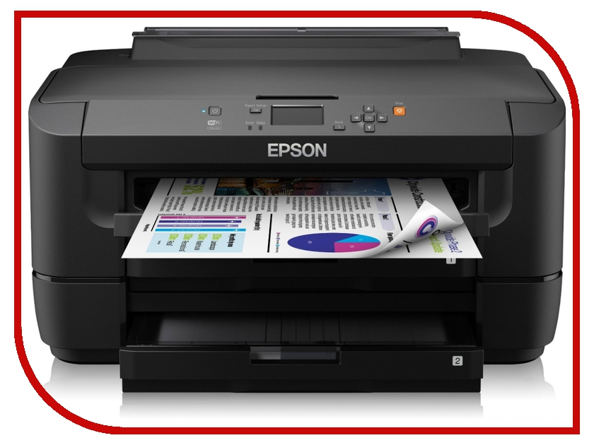 Принтер Epson WorkForce WF-7110DTW C11CC99302 принтер струйный epson l312