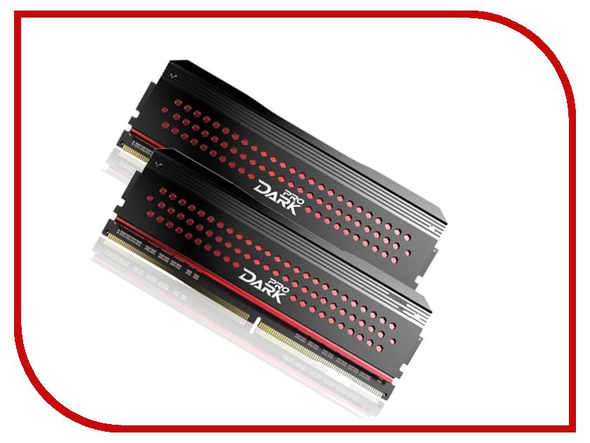 Модуль памяти Team Group Dark Pro Red UD-D4 DDR4 DIMM 3000MHz PC4-24000 CL14 - 16Gb KIT (2x8Gb) TDPRD416G3000HC14ADC01<br>