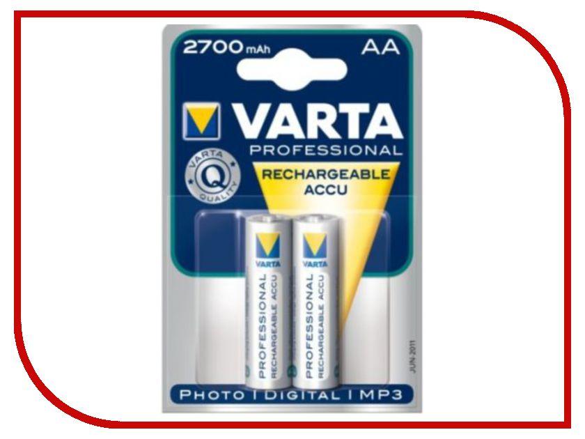 аккумуляторы AA  Аккумулятор AA - Varta 2700 mAh BL2 Professional (2 штуки) 57063 / 5706
