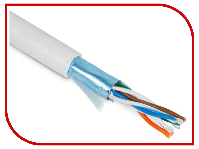 Сетевой кабель ATcom FTP cat.5e CCA 305m АТ3801 кабель atcom power supply cable 3 0m 0 5mm at16348