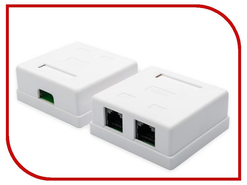 Розетка ATcom 2xRJ45 UTP White АТ5254