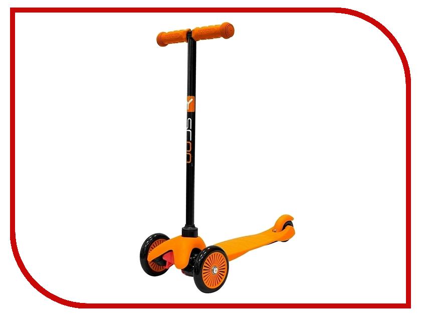 Самокат Y-SCOO mini Simple A-5 Orange с цветными колесами самокат y scoo maxi city rt simple gagarin orange