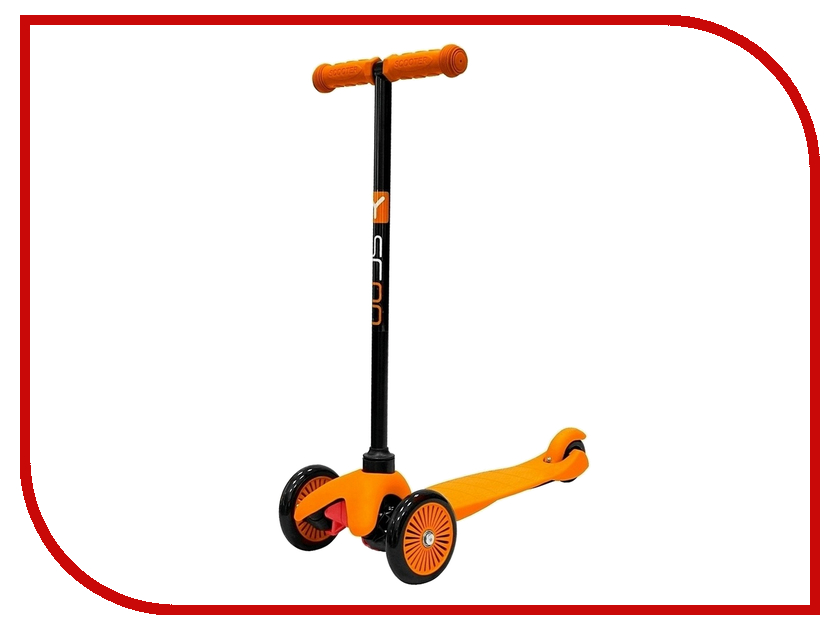 Самокат Y-SCOO mini Simple A-5 Orange с цветными колесами y scoo mini glam купить