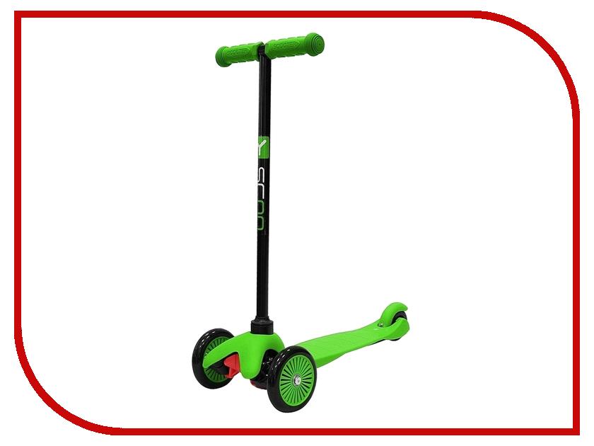 Самокат Y-SCOO mini Simple A-5 Green с цветными колесами y scoo mini glam купить