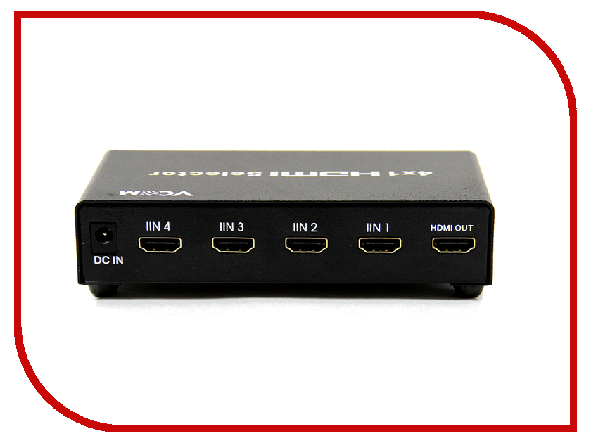 HDMI сплиттеры DD434  Сплиттер VCOM HDMI 1.4V Switch 4x1 DD434