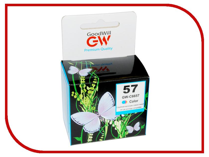 Картридж GoodWill GW-C6657A №57 Color для HP DJ450/5150/5652/5850/5550/9650/9670/9680 Compatible cactus cs c6657 57 color картридж струйный для hp 450 5145 5150 5151 5550 5552 5650 5652 565