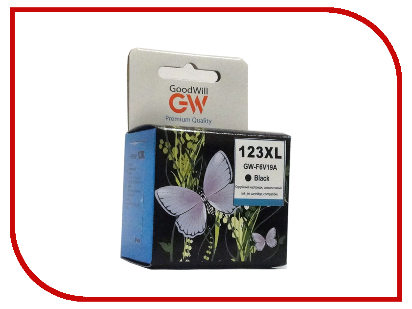 Картридж GoodWill GW-F6V19AE Black для DJ 2130 Compatible j1108bfbg dj f j1108bdse