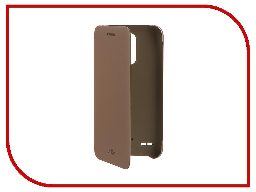 Аксессуар Чехол LG K10 M250 (2017) FlipCover Gold LG-CFV-290.AGRAGD чехол книжка lg cfv 150 для k10