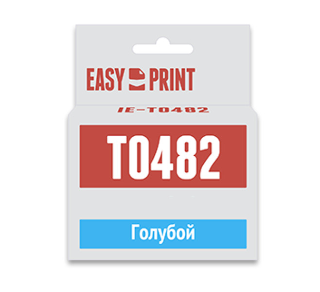 Картридж EasyPrint IE-T0482 Cyan для Epson Stylus Photo R200/300/RX500/600 с чипом